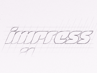 Impressive Logotype Sketch apple pencil ipad pro sketch logotype