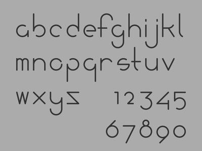 Fischer Typeface v01 line art single weight font custom type