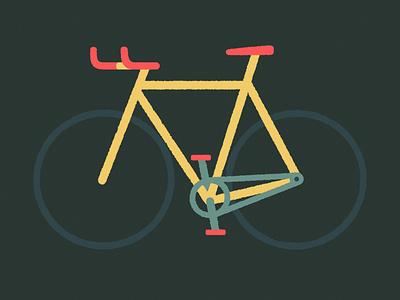 Bike Personality: Race biker race bullhorn fixedgear fixie bike design montreal illustraor illustration