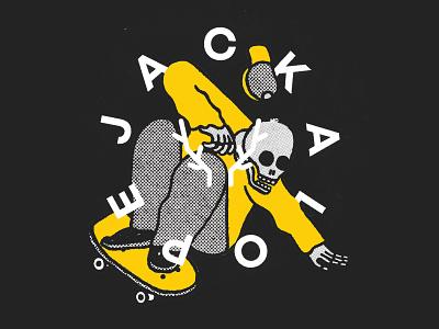 Jackalope Festival 2018 skate board hand lettering illustraor lettering type montreal festival poster skate or die poster design branding artistic direction typography illustration