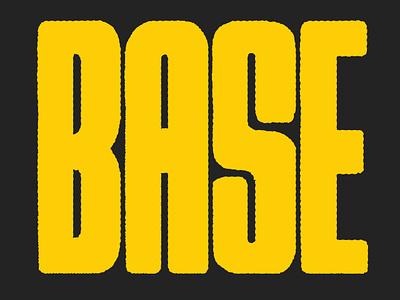 BASE music base montreal typography type poster lettering illustration illustraor hand lettering festival poster design branding artistic direction