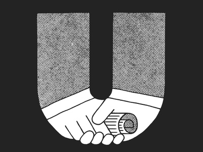 Union official document politic handshake union 36daysoftype 36 days of type type art texture gritty alphabet montreal design typography type hand lettering lettering illustration illustraor