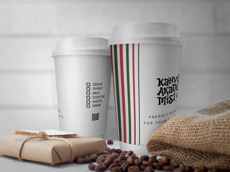Kahve Akademisi Cup coffe cup design italian