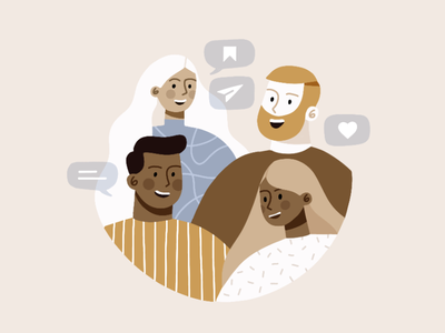 Instagram's Algorithm social media comment like sharing comunication people man digital orange portrait woman design beautiful minimal illustration simple algorithm instagram