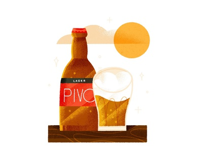 Pivo flat shape texture procreate 2d art vector minimal design illustration alcohol chill summer beer pivo