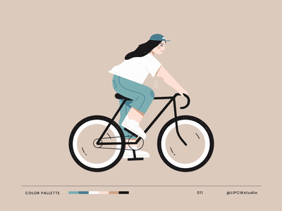 Cycling 2d flat shape characters texture people procreate cycle cycling bicycle bike sport digital minimal simple illustration character motion graphics graphic design animation