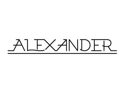 Alexander rough logo hand drawn vectors logo typography