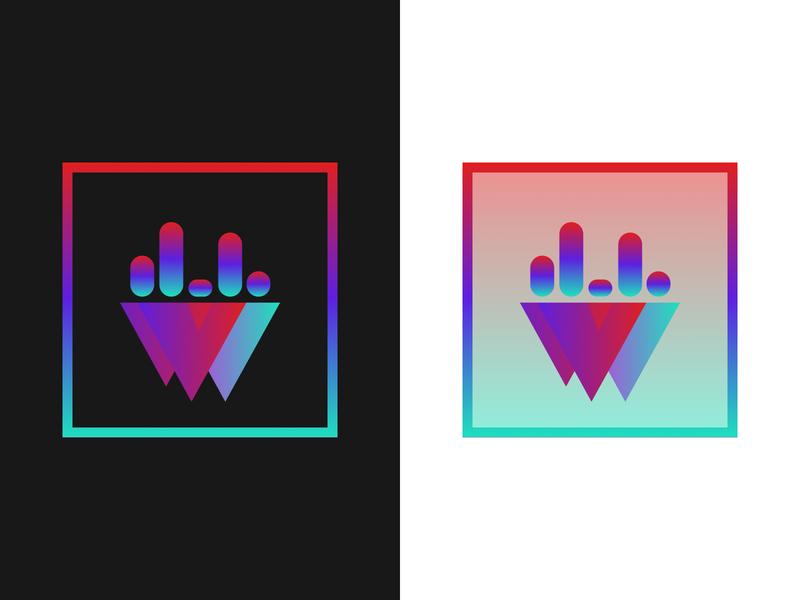 Playlist Logo tesselation bars gradient logo playlist
