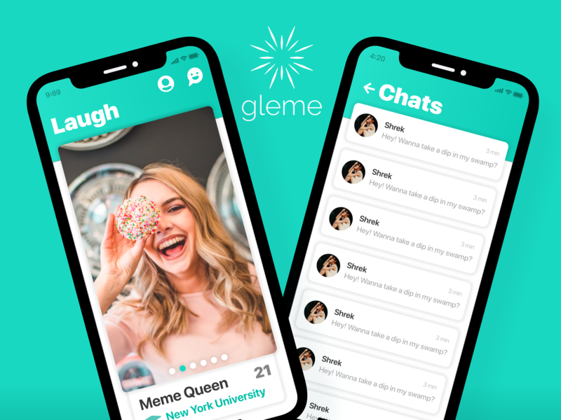 Gleme Redesign ui dating app dating ux branding app