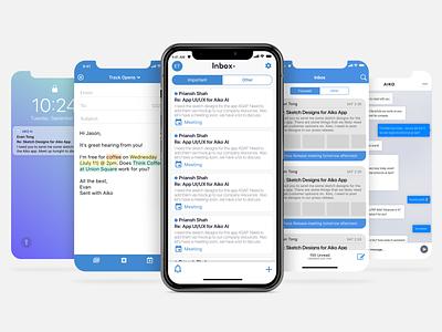 Email App Designs email email app branding ux ui app