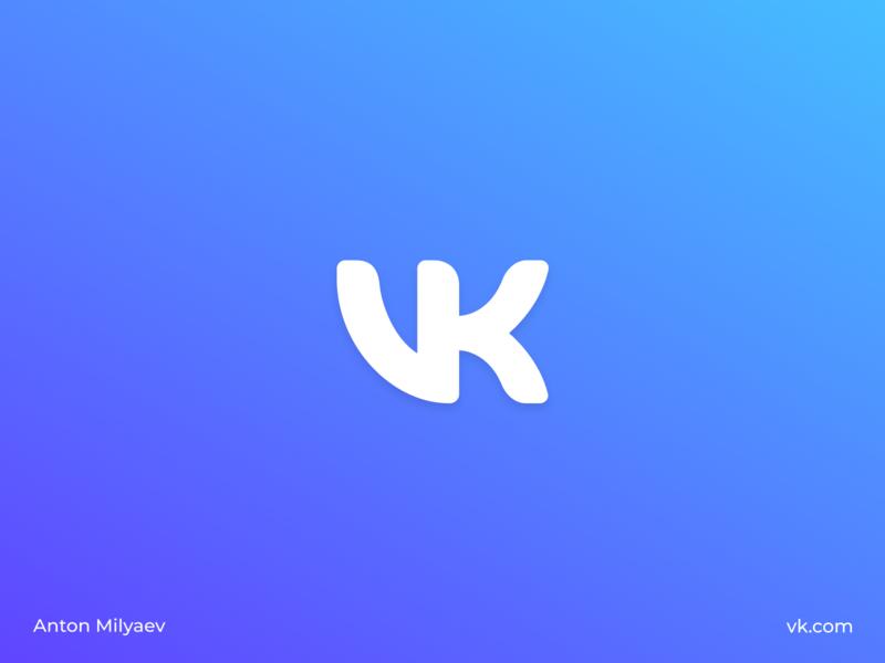 Redesign logo for vk.com | VK new logo visual design vector app branding brand gradient web icon redesign concept redesign logo design logotype logo vkmix vkontakte vk.com vk
