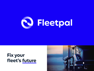 Redesign logo for Fleetpal - maintenance software logo redesign redesign brand design blue gif animation identity car fleet web ui illustration design logo design icon logotype flat branding brand logo