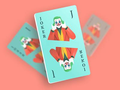 JOKER - Playing card | Illustration figma mockup download freebie free icon cards marvel dccomics dc movie film vector flat illustration game card superhero batman joker