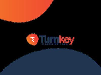 Turnkey Logo  mark combination mark logo design graphic design key turn branding design logo
