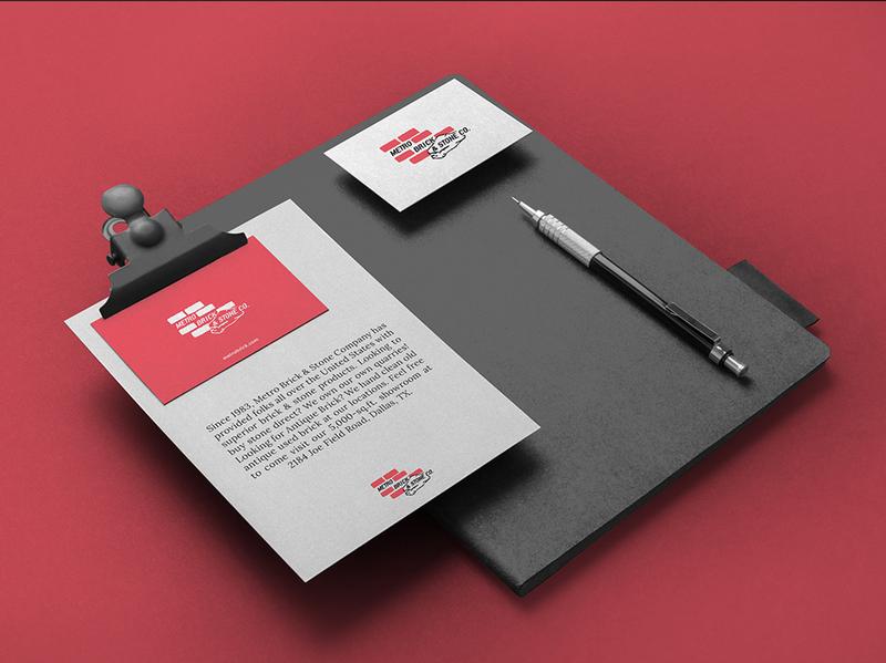 METROBRICK clean collateral inspiration ux designinspiration vpagency ui brandingdesign identity design brand branding