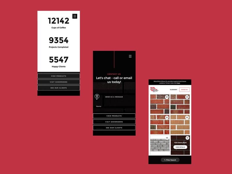 METROBRICK ux mobileweb mobile ui mockup creative vpagency designinspiration inspiration identity design brand branding