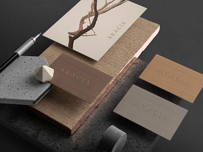AKACIA namecard brand identity visionaryplayground brandingdesign vpagency creative logo inspiration identity design brand branding