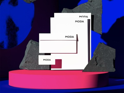 MODA - STATIONERY logodesign namecard gfxmob stationery brandingdesign vpagency creative logo designinspiration inspiration identity design brand branding