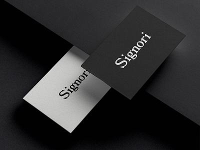 Signori luxury namecard brandingidentity vpagency creative logo designinspiration inspiration identity design brand branding
