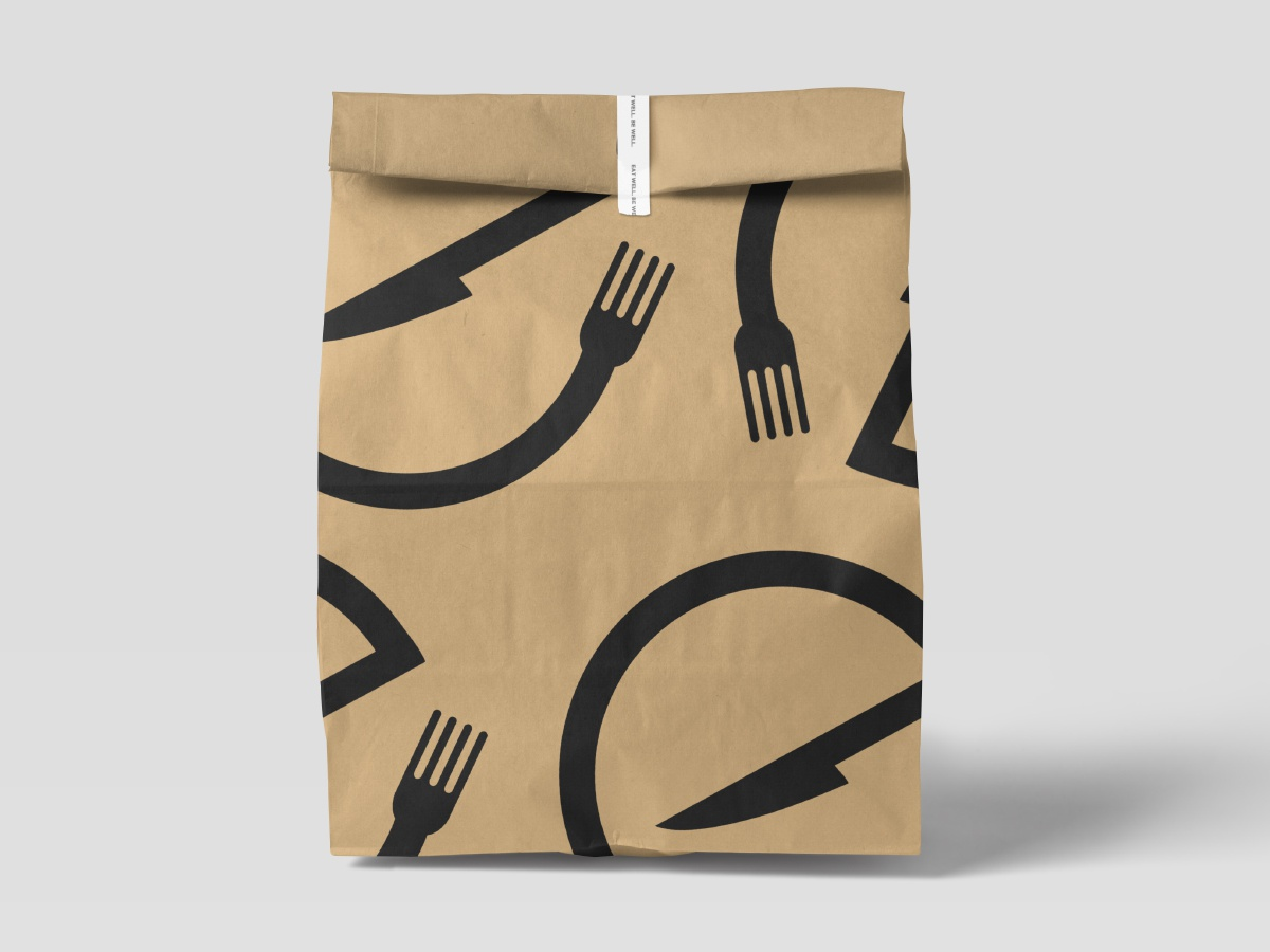Empire vpagency modern bag mockup restaraunt bag design icon clean minimal texture logo design branding brand design inspiration identity logo madebyvp packagedesign packaging green