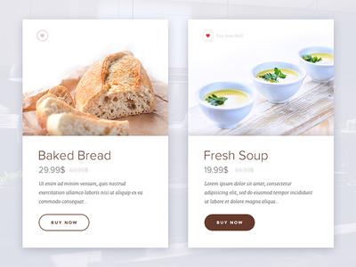 Product Card modern food fresh ui clean product