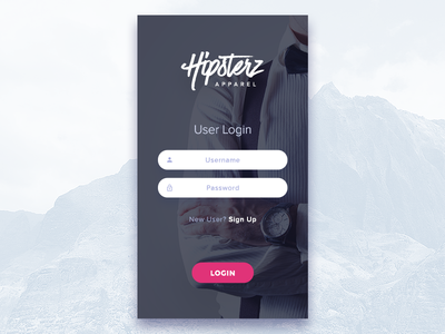 Clothing Store - Login Screen Experiment app soft clean modern user experience ux ui user interface login fashion