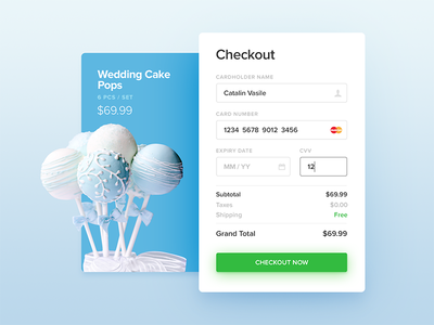 Checkout - Daily UI - #002 money transaction store product ui credit card checkout