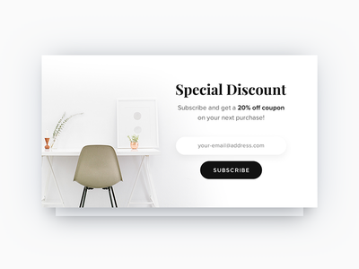 Pop-Up / Overlay - Daily UI - #016 interface daily ux ui email email campaign discount subscribe overlay popup