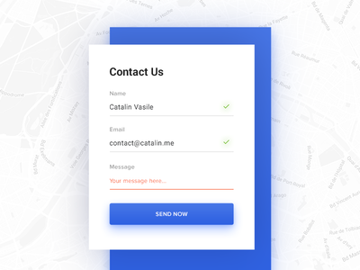 Contact Us - Daily UI - #028 form web interface daily ui ui daily contact us