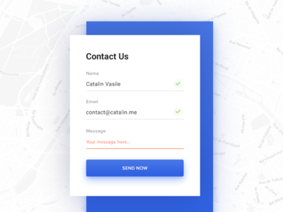 Contact Us - Daily UI - #028