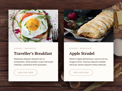 Special Offer - Daily UI - #036 web ui interface daily breakfast offer special offer food