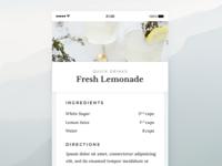 Recipe - Daily UI - #040
