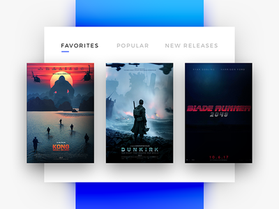 Favorites - Daily UI - #044 ui daily user experience user interface media movies favorites