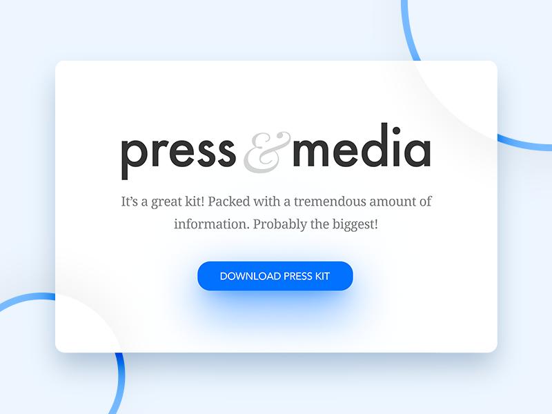 Press Page - Daily UI - #051 interface ui daily card press page