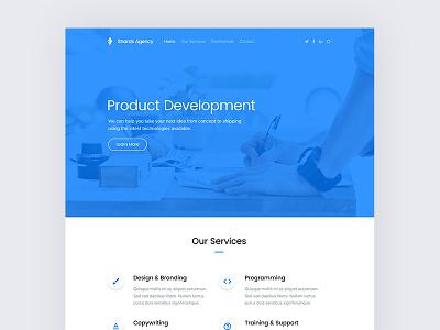 Shards — Agency Landing Page ui kit free freebie ui kit styleguide bootstrap