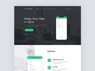 Shards — App Promo Page landing page free ui kit bootstrap ux page ui promo app
