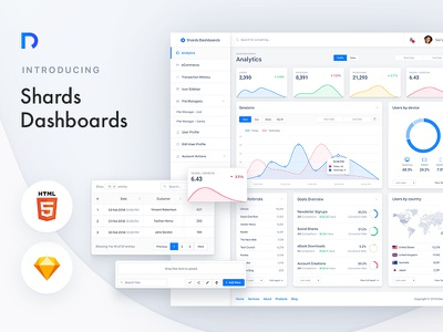 Shards Dashboards - A High-Quality Bootstrap 4 Admin Theme bootstrap ux ui dashboard admin theme template ui kit