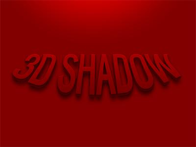 3D Shadow (PSD Freebie) photoshop text text style red free free psd psd freebie