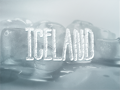 Iceland (10+ text styles PSD Freebie) smart objects photoshop text text styles free freebie psd free psd