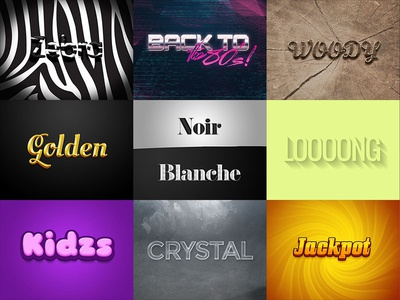 Free Photoshop text effects