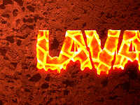 Lava text effect