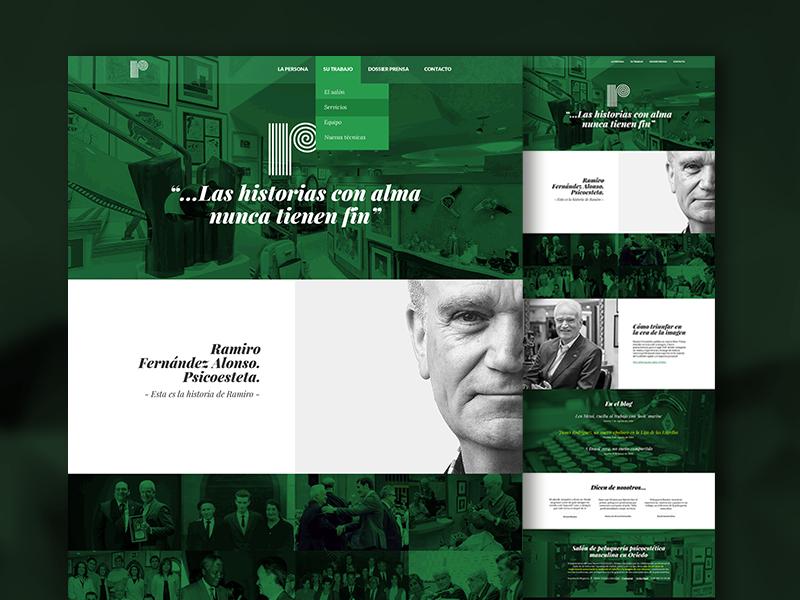 Homepage concept green web web design homepage responsive
