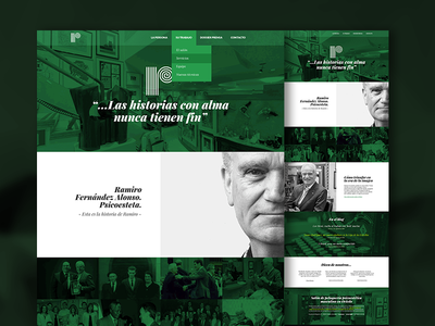 Homepage concept green web web design homepage responsive