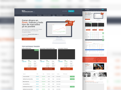 Real Trading Homepage layout website web business forex markets broker flat layout homepage clean