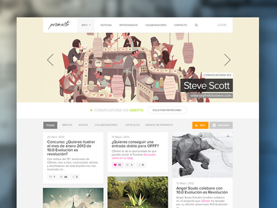 Promsite homepage web website layout clean homepage flat