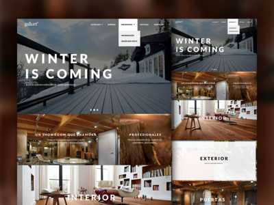 Gallart Homepage web clean white brown home page layout website landing page lato