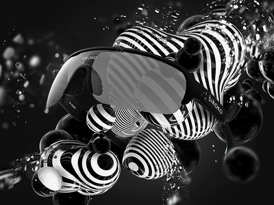 Siroko Tech animation cinema4d photoshop minimal retouch white black advertising 3d