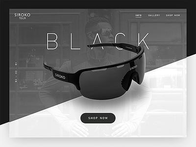 Siroko Black Concept ux ui web design web layout responsive white clean