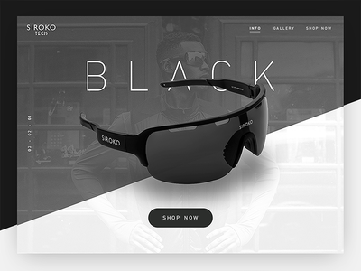 Siroko Black Concept ux ui web design web layout responsive white clean