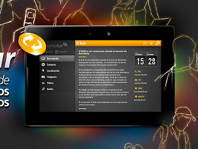 Playbook advertising advertising playbook fireworks tablet ui interface
